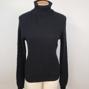 J. Crew Sweaters - J Crew Black Wool Cashmere Blend Turtleneck L